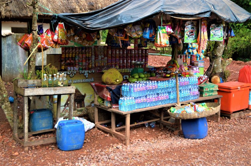 A roadside shop in rural Cambodia