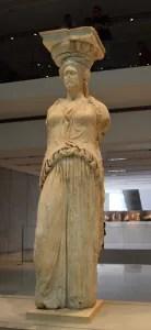 Original Caryatid on display at the Acropolis Museum