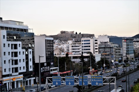Acropolis overlooking the city of Athens