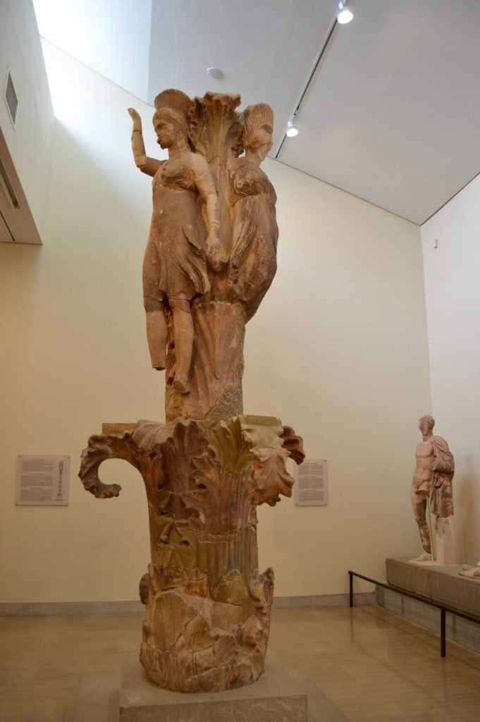 The Dancers of Delphi on display at the Delphi Archaeological Museum
