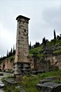 Pillar of King Prusias II of Bithynia at Delphi