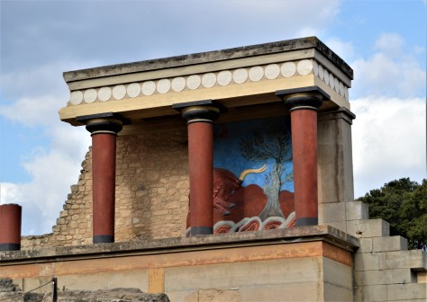 Bastion of the Bull at the Palace of Knossos