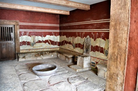 Throne room with frescoes