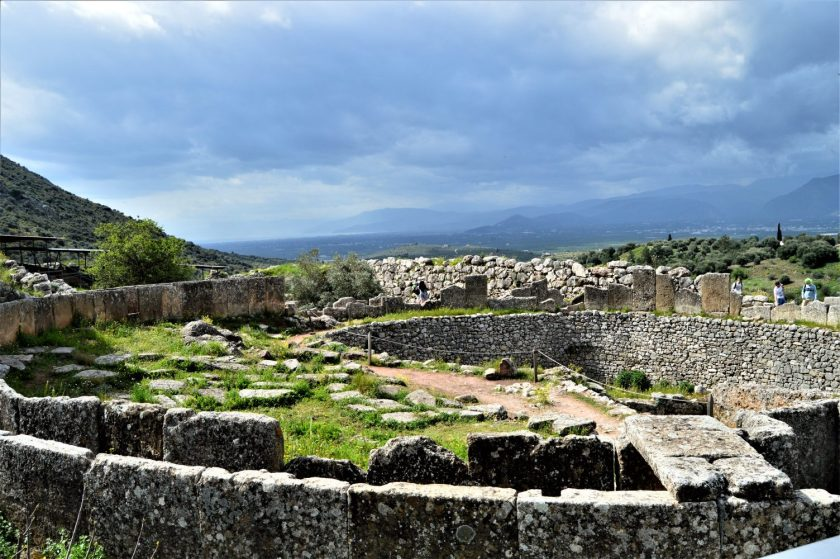 Grave Circle A in Mycenae Citadel, Greece
