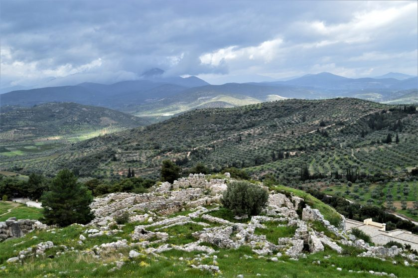 A view from the top of the Mycenae citadel