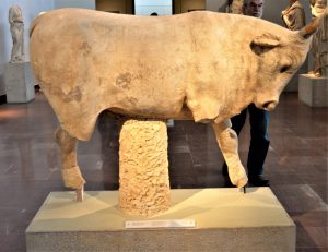 Marble bull - A votive offering at the Nymphaion