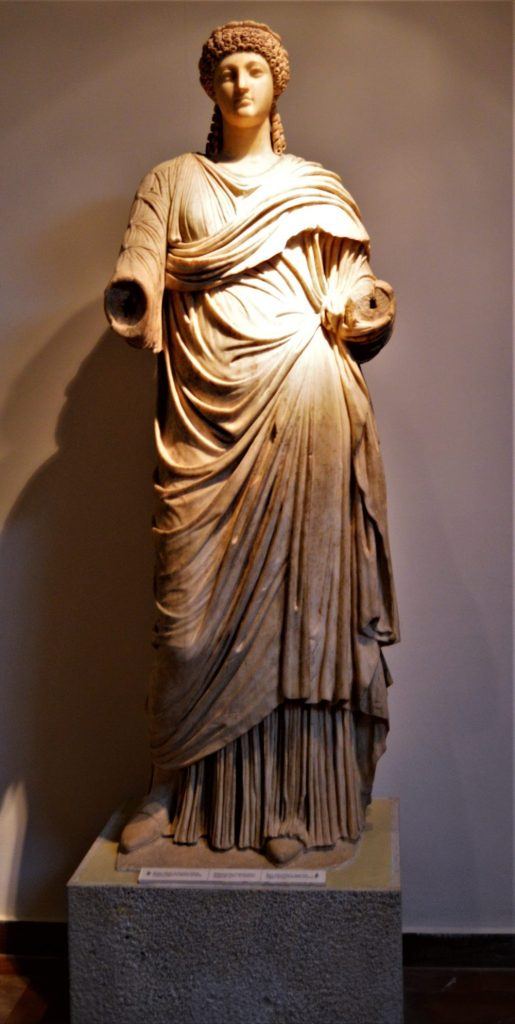 Statue of Poppaea Sabina, Emperor Nero's second wife, on display at the Olympia Archaeological Museum