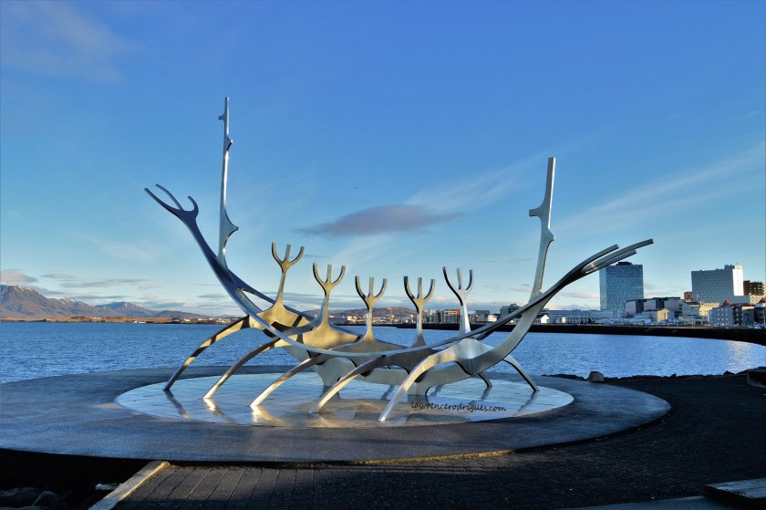 Sun Voyager - Sculpture resembling a Viking ship in Reykjavik, Iceland
