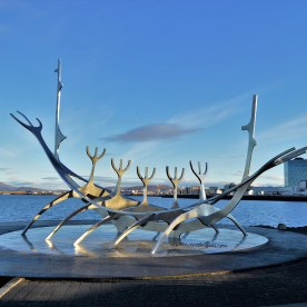 Sun Voyager - Sculpture resembling a Viking ship in Reykjavik, Iceland