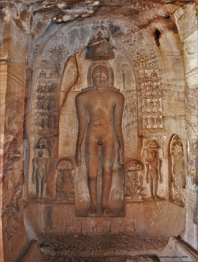 First Tirthankara - Ādinātha (Rishabhanātha) in Cave - 4 of Badami Caves in Karnataka, India