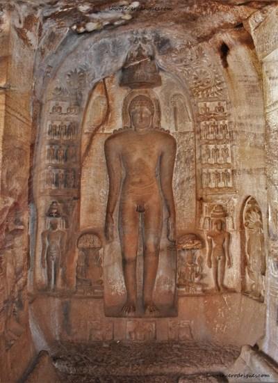 First Tirthankara - Rishabhanatha (Adinatha) in Cave - 4 of Badami Caves in Karnataka, India