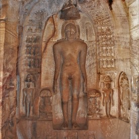 First Tirthankara - Adinatha (Rishabhanatha) in Cave - 4 of Badami Caves in Karnataka, India