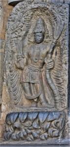 Belur Chennakeshava Temple - Manmatha at the main entrance