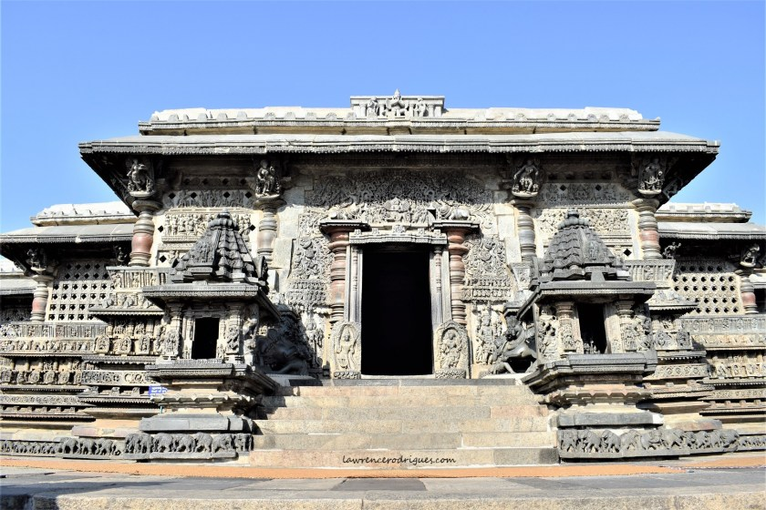 Main entrance and facade of the Chennakeshava Temple in Belur, Karnataka, India