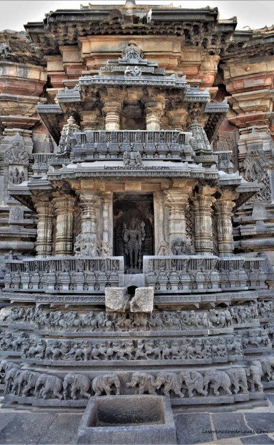 Belur Chennkeshava Temple - Two-storied shrine facing north built on the exterior wall