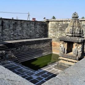 Kalyani (Temple Tank) on the courtyard of the Belur Chennakeshava Temple in Karnataka, India