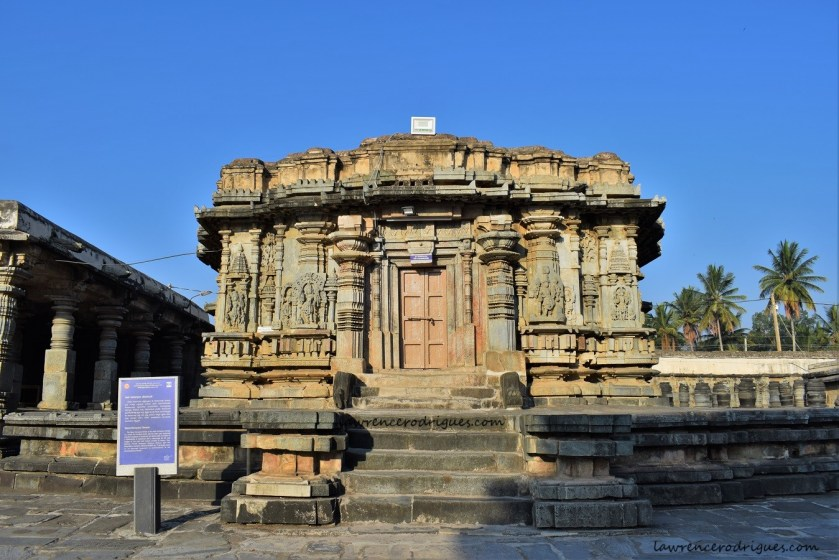 Facade and Entrance of the Veeranarayana Temple situated west of the Belur Chennakeshava Temple complex in Karnataka, India