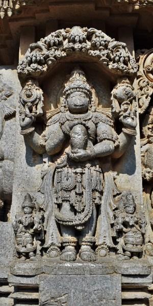 Kurmavatara -The second avatar of Vishnu carved on the outer walls of the Somanathapura Keshava Temple in Karnataka, India