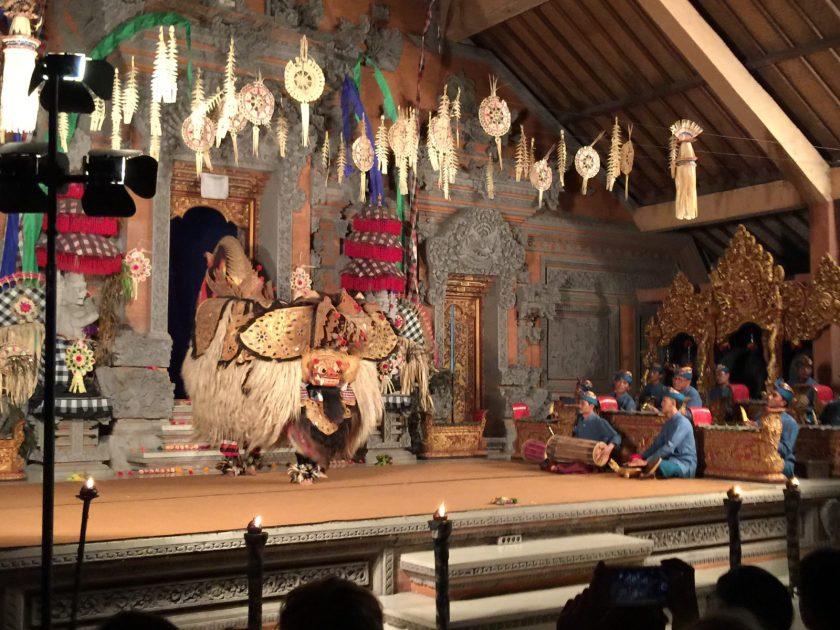 Balinese dance using Barong mask