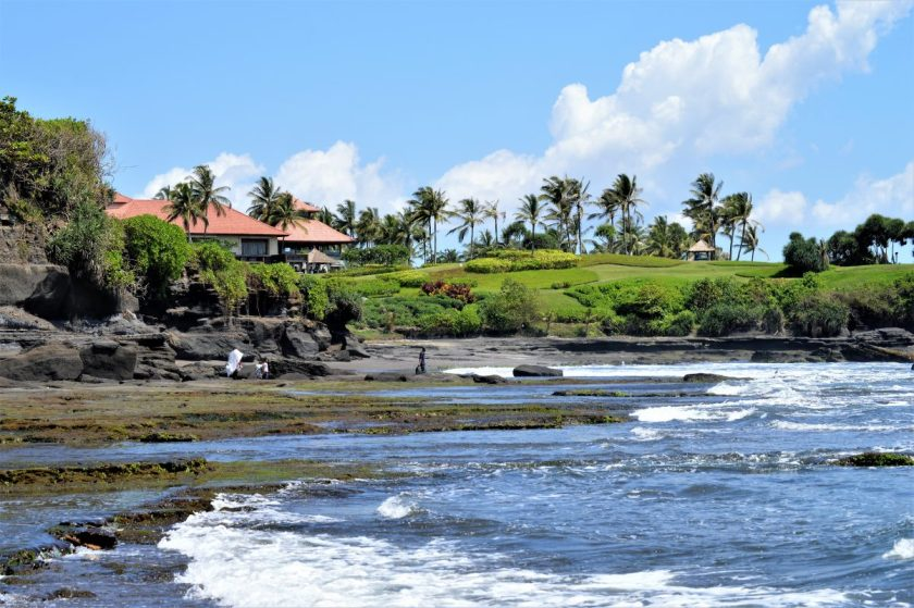 Scenic surroundings near the Tanah Lot Temple in Bali, Indonesia