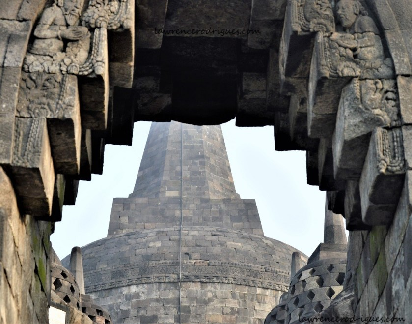 Mother Stupa on the Arupadhatu layer of Borobudur in Yogyakarta, Indonesia