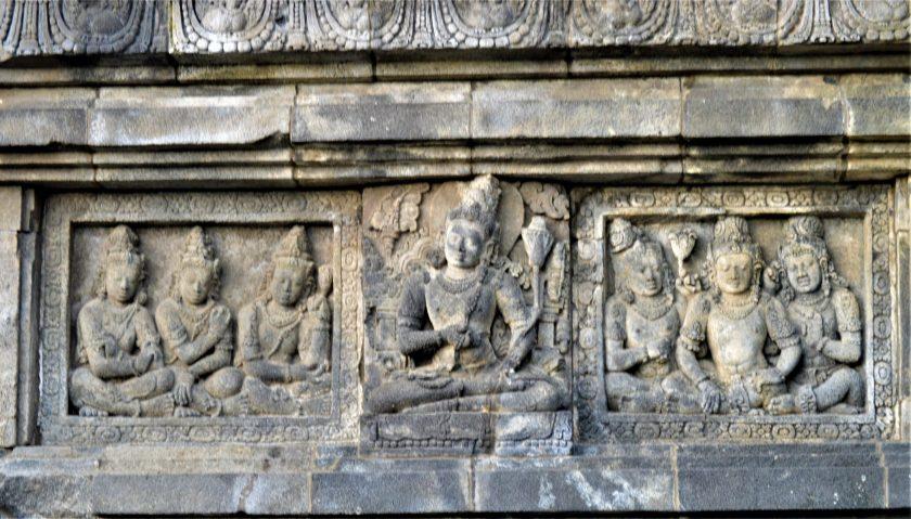 Bas-relief of Lokapala in the Shiva Temple, Prambanan, Yogyakarta, Indonesia