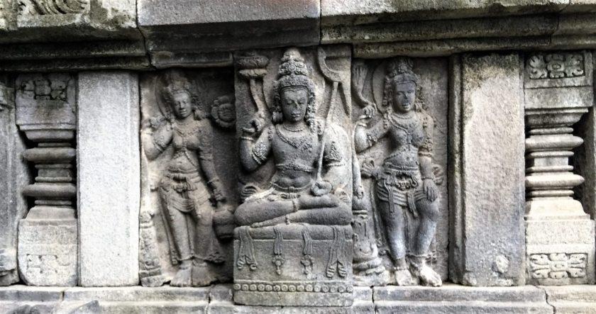 A sculptural relief of Balarama in the Vishnu Temple at Prambanan, Yoogyakarta, Indonesia