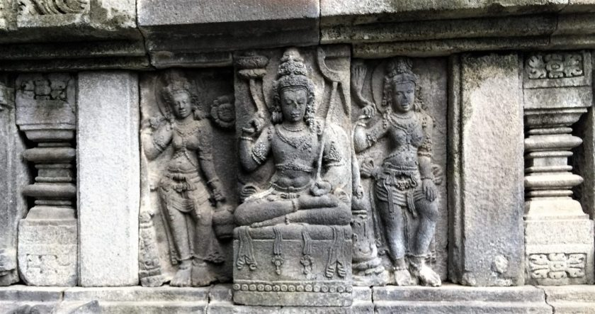 A sculptural relief of Balarama in the Vishnu Temple at Prambanan, Yoogyakarta, Indonesia