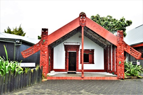 Hatupatu - House of Learning (A whare runanga) in Roturoa, New Zealand