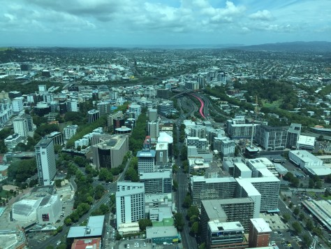 View of Auckland City from Sky Tower