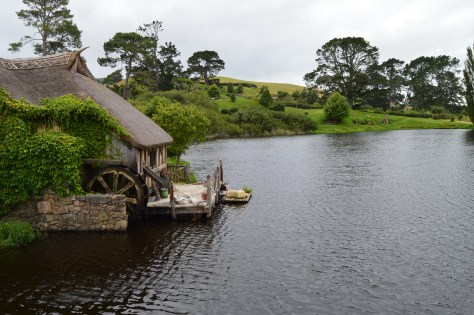 Water Mill in the Hobbiton Movie Set
