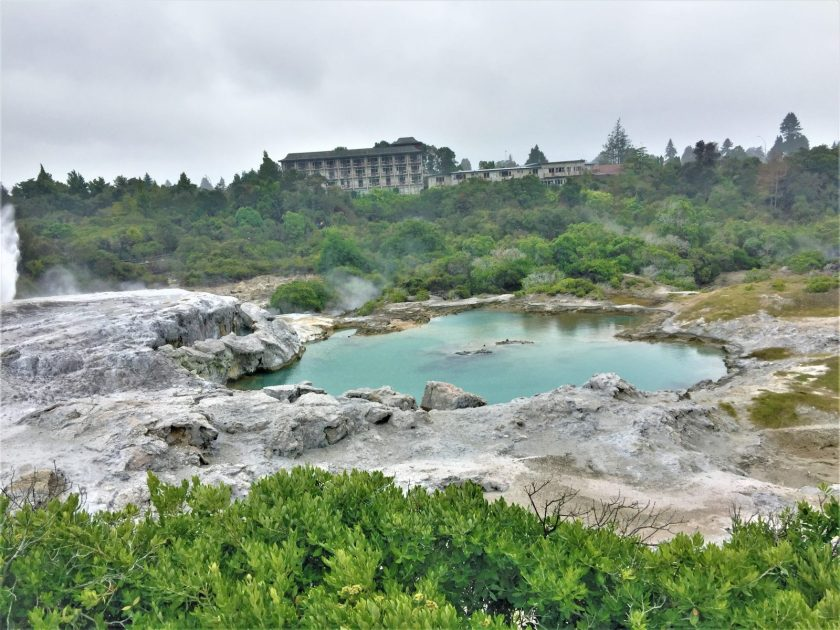 Blueys Pool in the Te WhakarewarewaGeothermal Valley, Roturoa, New Zealand