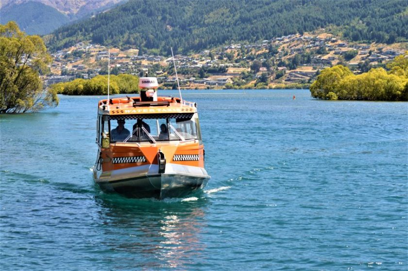 Water Taxi on the Frankton Arm of Lake Wakatipu in the South Island of New Zealand