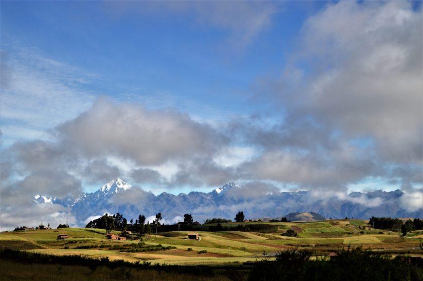A view of Veronica peak captured at Chinchero, Cusco