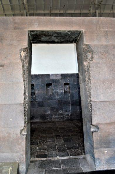 A trapezoidal door belonging to the Qorikancha temple in Cuzco, Peru
