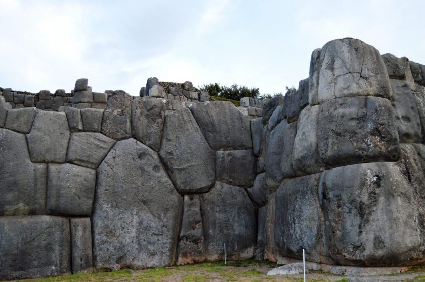 Polygonal Walls of Saksaywaman located near Cuzco, Peru