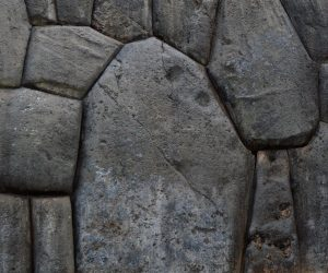 Polygonal wall at the fortress of Saksaywaman in Cusco, Peru