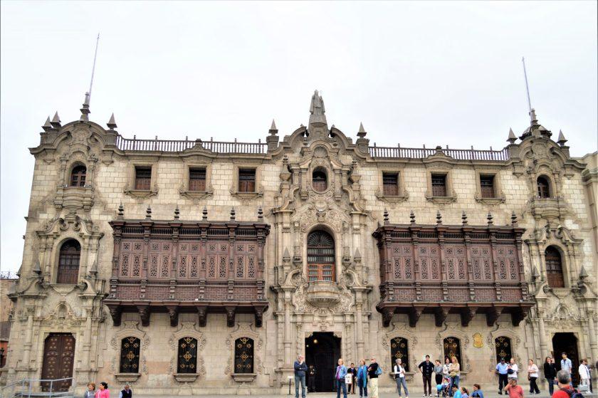 Government Palace in Plaza Mayor, Lima, Peru