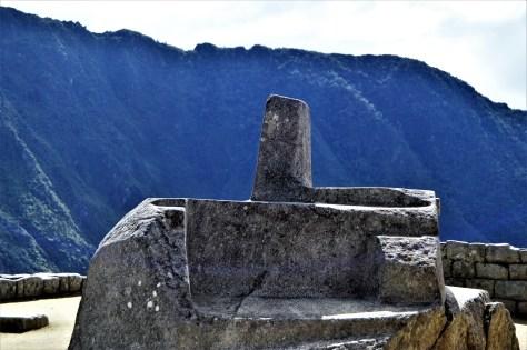 Sacred Inti Watana stone in Machu Picchu