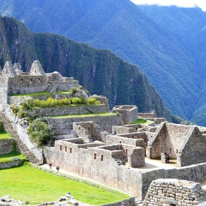 Residential quarters at Machu Picchu in Peru