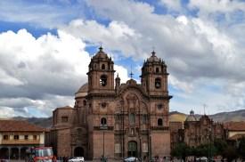 A church in Plaza de Armas in Cuzco, Peru