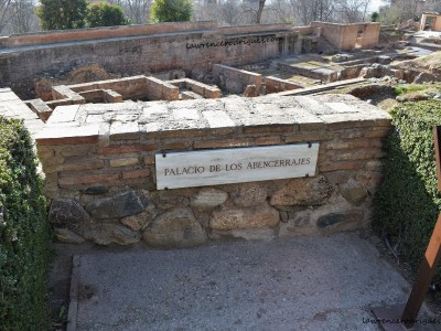 Archaeological site of the Abencerrajes Palace in the Alhambra, Granada, Spain