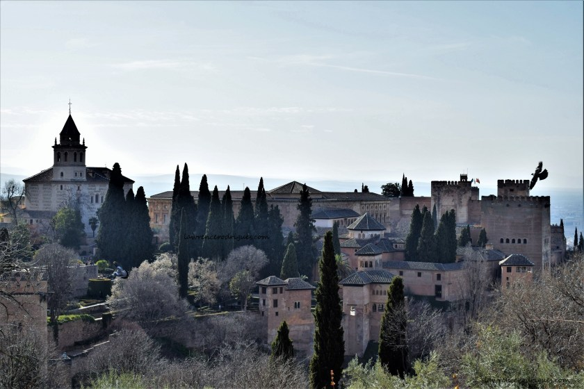 An external view of the Alhambra from the Generalife
