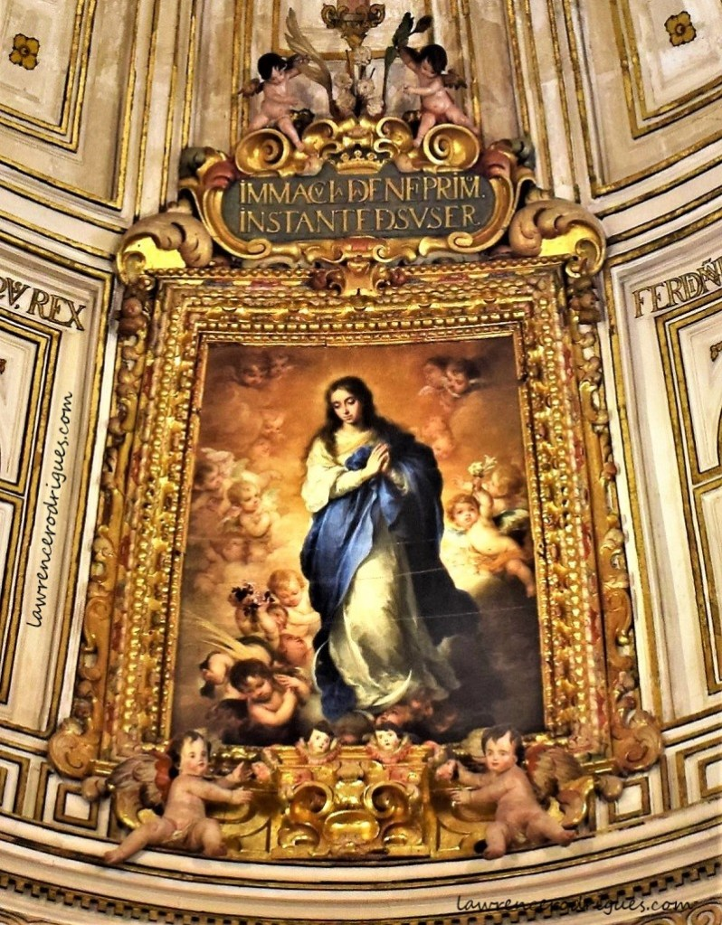 Immaculate Conception - A masterpiece by Bartolomé Esteban Murillo in the Chapter House of the Seville Cathedral in Andalusia, Spain