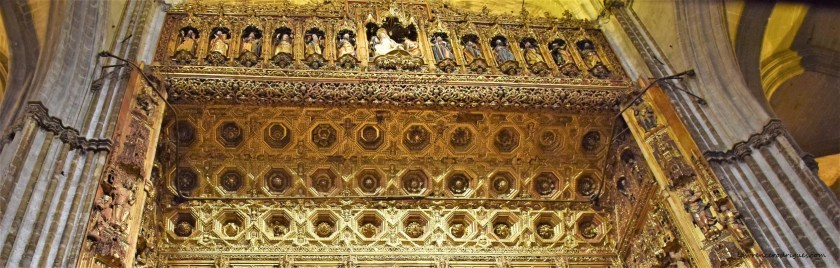 Main Chapel - Canopy of the Altarpiece in the Seville Cathedral