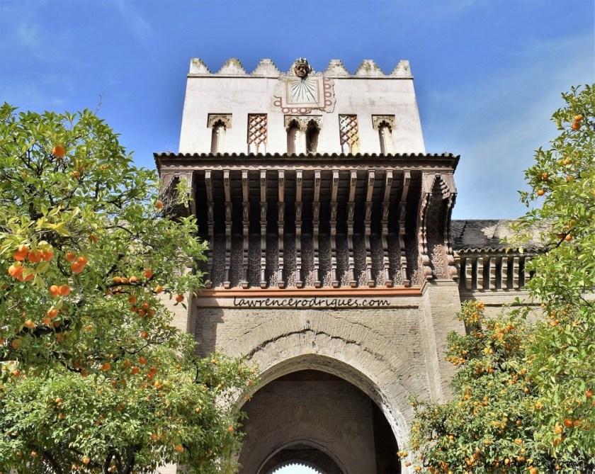 Rear facade of the Puerta del Perdón (Door of Forgiveness)