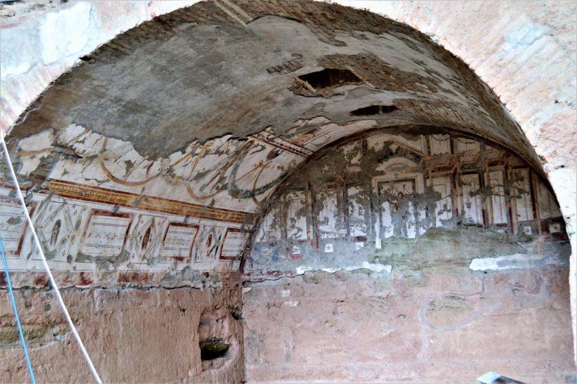 Frescoes in a Roman Terrace House in Ephesus, Turkey