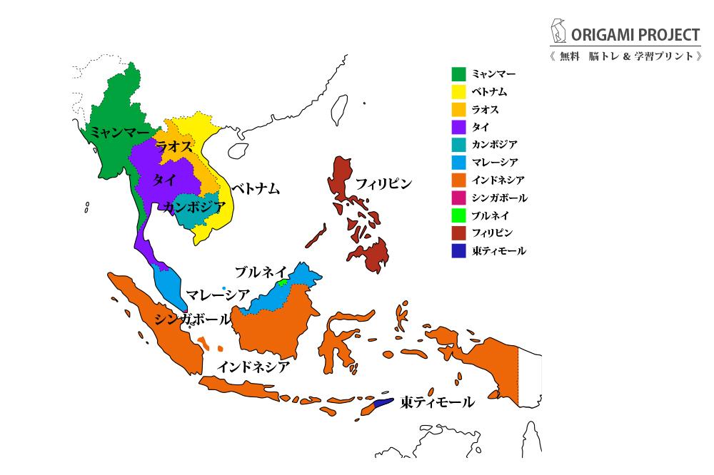 東南アジア11カ国の地図