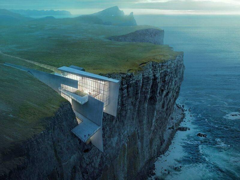 Исландия построит отель в скале