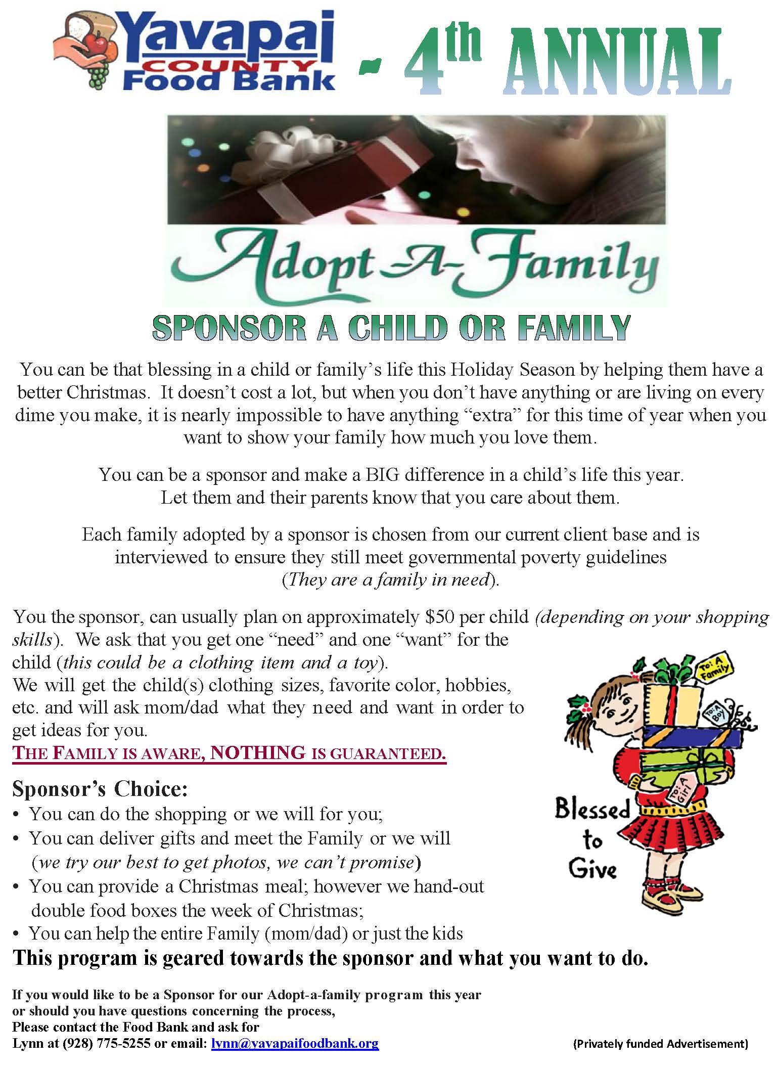 Adopt A Family For Christmas 2016 : adopt, family, christmas, Adopt-A-Family, Christmas